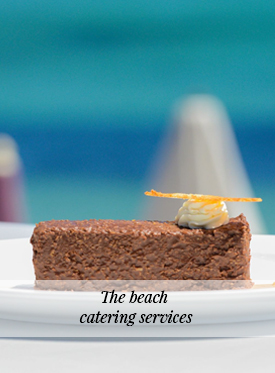 The beach catering service
